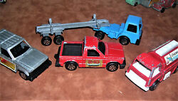 Vintage Lot Of 3 Die Cast Tootsie Toy Cars And 1 Log Truck