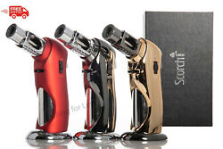 Scorch Torch Easy Hand Held Single Flame Butane Refillable Torch Lighter