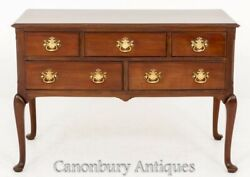 Queen Anne Lowboy - Mahogany Chest Sideboard 1880