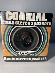 Rare Vintage Audiovox Coaxial 2 Auto Stereo Speakers For Home , Campers , Boats