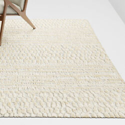 Area Rugs 9and039 X 12and039 Niagra Hand Tufted Crate And Barrel Rayon Carpet