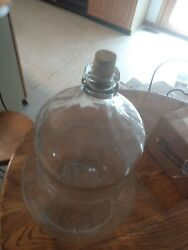 Vintage Glass Water Jug Bottle Crisa 5 Gallon Pear Shape Bell Made In Mexico