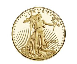 American Eagle 2021 One Ounce Gold Proof Coin Will Ship The Next Day Sealed