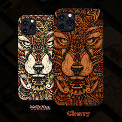 Wolf Face Wood Phone Case For Iphone 12/11/11 Pro/max X/xr/xs Max 8/7/6 Plus U