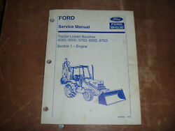 Ford New Holland 675d Tractor Loader Backhoe Engine Shop Service Repair Manual