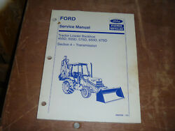 Ford New Holland 675d Tractor Loader Backhoe Transmission Service Repair Manual