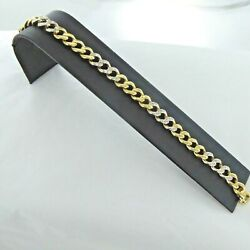 A Good Solid18 Carat Two Colour Gold And Diamond Bracelet Total1.20 Of A Carat.