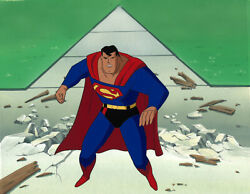 Superman Animated Series- Original Production Cel/obg-superman-twoand039s A Crowd