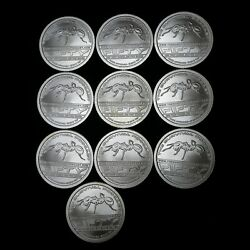 Lot Of 10 1 Oz. .999 Fine Silver Round - Ant Shield - The Survival Podcast