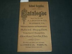 1915-1916 School Supplies Catalogue Published By A. J. Fouch And Co. - J 5933