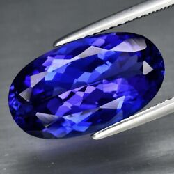 Big Rare 7.10ct If Clean Oval Natural Aaa D-block Violet Blue Tanzanite Amazing