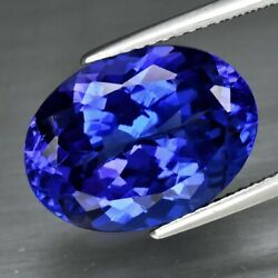 Big Rare 8.89ct If Clean Oval Natural Aaa D-block Violet Blue Tanzanite Amazing