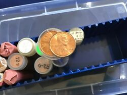 1982-d Large Date Copper Lincoln Cents Lot Of 13 Brilliant Uncirculated Rolls