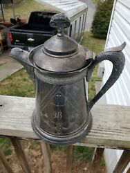 Eg Webster And Bro. Silver Co Antique Quadraplate Silver Plated