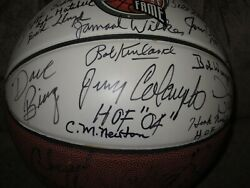 Hof Hall Of Fame Basketball Signed Autographed By 38 Members-deceased Autos