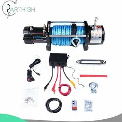 Electric Recovery Winch 13000lbs 26m Synthetic Rope Truck Trailer 12v Offroad