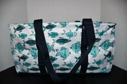 Thirty One LARGE Utility Tote in Finny Friends NWT $39.99
