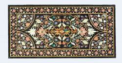 5and039x3and039 Marble Dining Table Top Precious Floral Marquetry Inlay Garden Decors B506