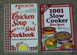 Lot 2 Chicken Soup for the Soul amp; 1001 Easy Slow Cooker Recipes PB Cookbooks