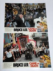 Bruce Lee The Game Of Death Gig Young Rare Original 1978 Set Of 8 Lobby Cards