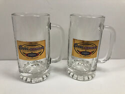 Coors Original Monday Night Football 35th Anniversary Set Of 2 Glass Beer Steins