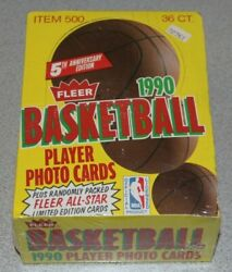 1990-91 Fleer Basketball Wax Box🔥 15 Cards Pack Andbull 36 Packs Box Unsearched
