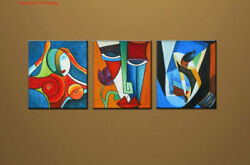 Hand-painted Modern Abstract Oil Painting On Canvas Contemporary Wall Art Decor
