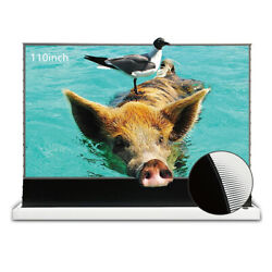 Vividstorm 110 Motorised Ultra Shot Throw Laser Projector Screen For Home Class