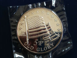 Old Glory Fifty Dollars True Value Pledge Of Allegiance Silver Art Medal E4837