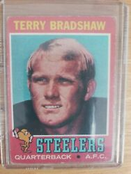1971 Topps Terry Bradshaw Pittsburgh Steelers 156 Football Card