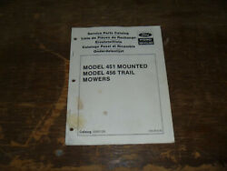 Ford New Holland 451 Mounted 456 Trail Mower Service Repair Parts Catalog Manual