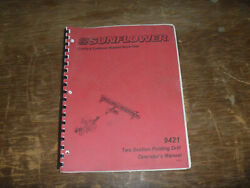 Sunflower 9421 Two Section Folding Grain Drill Owner Operator Maintenance Manual