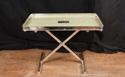 Victorian Silver Plate Tray On Stand Platter Side Table Sheffield