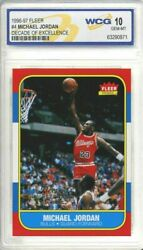 MICHAEL JORDAN 1996 97 FLEER #4 DECADE OF EXCELLENCE 1986 ROOKIE CARD GEM MT 10 $49.95