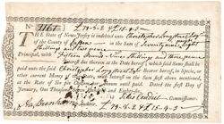 1786 Fiscal Document Paying Nj Revolutionary War Debt - Only 2 To 3 Known