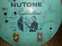 Vintage 1940s Nutone Pushbutton Door Bell Store Display Sign