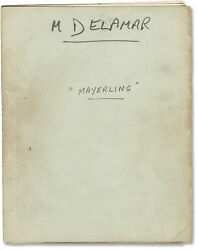Terence Young Mayerling Original Screenplay For The 1968 Film 152185
