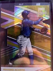 2020 Panini Elite Extra Edition Maximo Acosta Gold Prime Numbers 9 10 #D $49.99