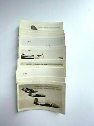 Vintage Lot Of 24 Ww2 Us Airplane Cards Premiums Real Photos 1.75x2.5 Inches
