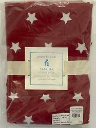 Pottery Barn Kids Red And White Stars Sabrina Basket Liner Extra Large Xl