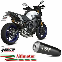 Full System Yamaha Mt-09 2019 Exhaust Complete Mivv X-m1 Steel Black Motorcycle