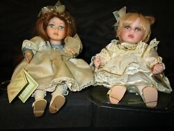 Musical Collection Genuine Porcelain Dolls 2 Brooke Music Box Works