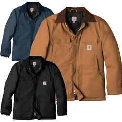 Carhartt Duck Traditional Coat Quilted Nylon Lining C003