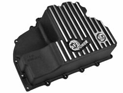 Afe Pro Series Engine Oil Pan Black Machined Fins For 14-18 Ecodiesel 46-70282
