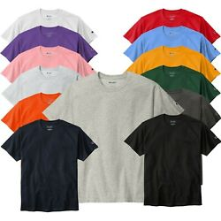 Champion Crew Neck Short Sleeve T Shirt T425 6oz Jersey Tee Pick Color Size