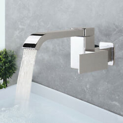 Basin Sink Faucet Kitchen Bathroom Single Handle Cold Brass Tap Wall Mount
