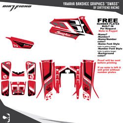Yamaha Banshee 350 Graphics Dfr Swass Red Sides Fenders