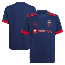 Chicago Fire Adidas Official Youth Mls 2021/22 Replica Home Jersey - Navy