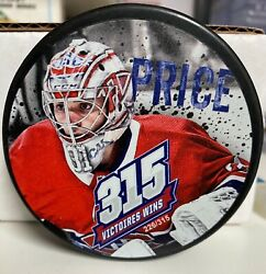 2018-19 Montreal Canadiens 315 Wins Official Puck Carey Price 226/315 Limited