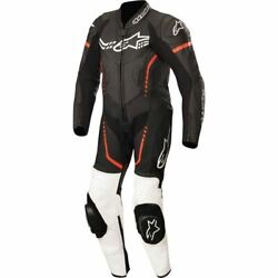 Alpinestars Gp Plus 1-piece Youth Leather Suit - Black/white/flo Red, All Sizes